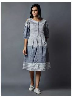 Kurta Designs Women, Blouse Designs, Dress Designs, Long Kurti With Jeans, Cotton Dresses Online, Dress Online, Feeding Dresses, Box Pleated Dress, Ikkat Dresses
