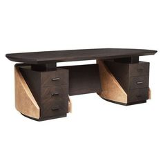 Find out all of the information about the SMANIA product: leather desk / Art Deco / commercial MASTER: METROPOLIS. Office Table Design, Reception Desk Design, Home Office, Office Desk, Office Furniture, Furniture Design, Gaming Room Setup, Desk Setup, Art Deco Desk