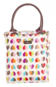 New Beau & Elliot Confetti Love Heart Tote Insulated Lunch Bag & Carry Handle | eBay