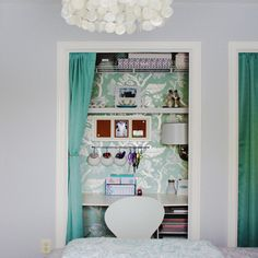 This would be great in the same room with the materials and crafting tools :)!