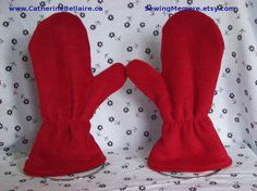$25.00 QUALITY Canadian custom made polar fleece mittens glove for children to adults. http://www.catherinebellaire.ca/ SewingMemere.etsy.com Pin now, view latter.