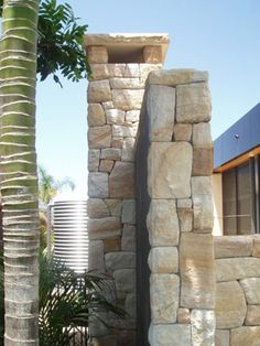 Sandstone Cladding was developed to make publicly available a product that we as stonemasons have been creating and using for years. Sandstone Cladding, Backyard, Patio, Stone Work, Sydney Australia, Fences, Garden Projects, Habitats, Tiles