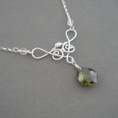 Saraphina green wire wrapped necklace by Colette Kimon