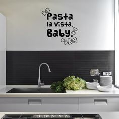 Style and Apply 'Pasta la Vista' Wall Decal