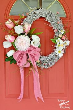 A Pink Spring Wreath