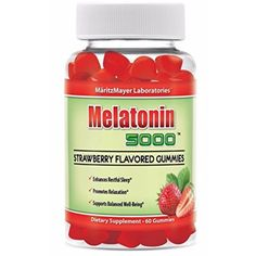 Melatonin 5000 Strawberry Flavored Gummies Enhances Restful Sleep and Relaxation from MaritzMayer Laboratories http://amzn.to/1RX30VF #Melatonin #vovcyan