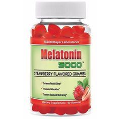 Melatonin 5000 Strawberry Flavored Gummies Enhances Restful Sleep and Relaxation from MaritzMayer Laboratories http://amzn.to/1RX30VF #Melatonin #vovcyan