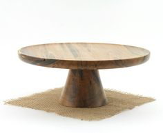 Ambrosia Maple Cake Stand   by Wood Expressions