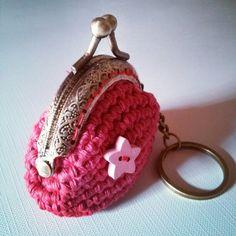Monedero-llavero. #Clauer #Moneder #Ganxet #Ganchillo #Crochet