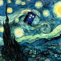 Doctor Who Van Gogh Starry Night TARDIS art by BohemianCraftsody   (Possible Future Half-sleeve