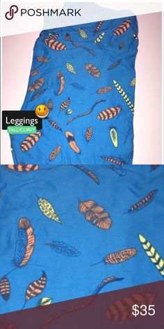 Brand NewTC Blue Feather LuLaRoe Leggings *Unicorn These leggings are 💯 brand new!!! Please feel free to ask any questions or make an offer, and as always THANK YOU for shopping my posh closet! Xoxo -Tish LuLaRoe Pants Leggings