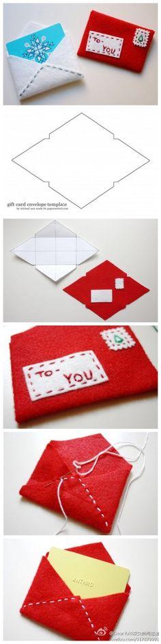 sewn gift card envelope