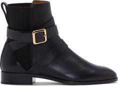 Chloe Black Nappa Leather Chelsea Boots