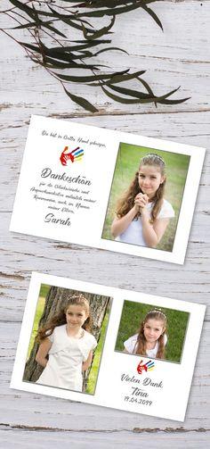 """#Danksagungen """"in Gottes Hand"""" #Erstkommunion #Danksagungskarten #Kommunion #Dankeskarten #Firmung #Jugendweihe"""