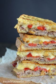 Cheesy Beef Panini-It's the panini for burger lovers.