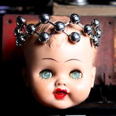 vintage doll with expandable crown