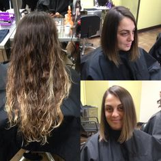 Inspiration By Ally Towery From Aveda Insute Orlando Before And After Triangular Lob Cut