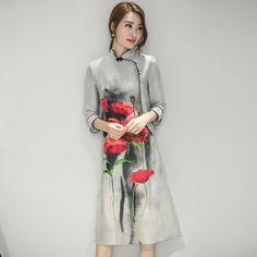 Китайских женщин Атласная Cheongsam Qipao Вечернее Платье Женщины Восточный Традиционный Китайский Платье Fr598 купить на AliExpress