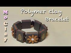 ▶ DIY bracelet - Polymer clay Tutorial by Mo Clay - Pulsera con arcillas poliméricas - Braccialetto - YouTube