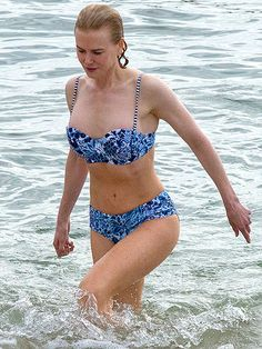 Pin for Later: Age Is Just a Number! See Hot Stars Over 40 in Bikinis Nicole Kidman, 48 Nicole Kidman, Floral Bikini, Blue Bikini, Sexy Bikini, Tilda Swinton, Alexandra Daddario, Celebrity Bikini Bodies, Gisele Bündchen, Actrices Sexy