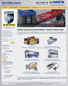 Realizzazione eCommerce: Batterie Varta