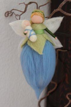 Weiteres -  Wiegenfee mit Baby,Schutzengel,Fee - ein Designerstück von Jalda-Filz bei DaWanda