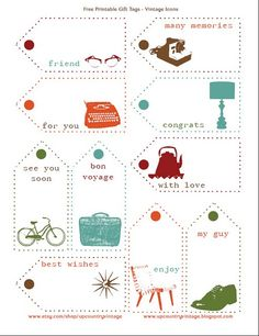 Free Printable Gift Tags from Upcountry Vintage c/o Campfire Chic