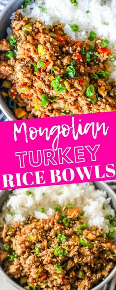 Easy Mongolian Turkey And Rice Bowls Recipe Sweet Cs Designs. 30 Easy Ground Turkey Recipes To Make Your Mouth Water. Korean Ground Beef And Rice Bowls The Recipe Critic. Turkey Bowl, Turkey Dishes, Turkey Rice Recipe, Turkey Mince, Turkey Tacos, Healthy Turkey Recipes, Quick Ground Turkey Recipes, Ground Turkey And Peppers Recipe, Gourmet