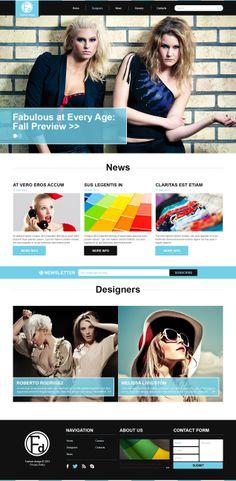 'Fashion Magazine' #webdesign for #Joomla 3 Template http://zign.nl/47945