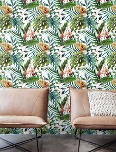 Floral Wall Décor Jungle leaf Wallpaper Removable Wallpaper