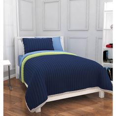 Update the look of your child's bedroom and add classic style with this Mainstays Kid's Quilted Solid Bed in a Bag Bedding Set. It is offered in twin and full s Full Size Comforter Sets, Kids Comforter Sets, Crib Bedding Sets, Hot Pink Bedding, Green Bedding, Bed In A Bag, Childrens Beds, Bed Duvet Covers, Furniture Deals