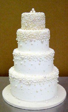 scrolls and bows wedding cake