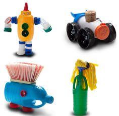 """""""De trasto a juguete""""... ¡Nos encanta! Esto es tener #creativida, convertir cualquier cosa en un juguete :)    #reciclaje #manualidades"""