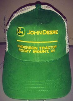 Vintage John Deere Dealer Rocky Mount Va Hat Mesh Adjustable Cap cd92e42b6557