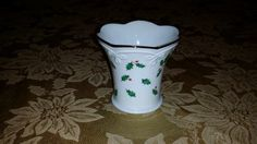 VINTAGE Votive Candle Holder by Lenox in Holiday Holly (Dimension Collection) 1974 by NookHook on Etsy
