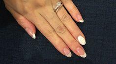 Wedding bridal nails  French / gel / 3D art #bridal nails #Harrywinston