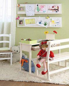 Expondo o desenho dos pequenos na decor!