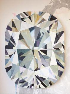 Diamonds Are Forever ~ South African artist Kurt Pio's larger than life diamond paintings.
