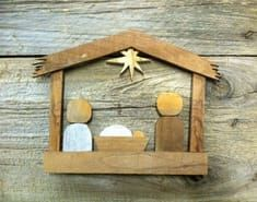 Cut from reclaimed pallet boards and old house siding, each piece is custom built. They've quickly become a customer favorite in my shop! Diy Nativity, Nativity Ornaments, Christmas Nativity, Christmas Time, Christmas Ornaments, Nativity Sets, Wooden Pallet Crafts, Diy Pallet Projects, Wood Projects