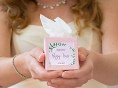 Freudentränen-Taschentücher dürfen auf keiner Hochzeit fehlen