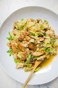 Paleo Chicken Stir-Fry with Cabbage and Shiitake. Tender chicken breast stir-fry with Napa cabbage. Most flavorful and easy Whole30 Keto Paleo Chicken cabbage stir-fry everyone will love in the family ! #ChickenCabbage #ChickenCabbageStirFry #PaleoChickenStirFry #Whole30ChickenCabbage #KetoChickenCabbage #StirFry #EasyStirFry #HealthyStirFry #NapaCabbage