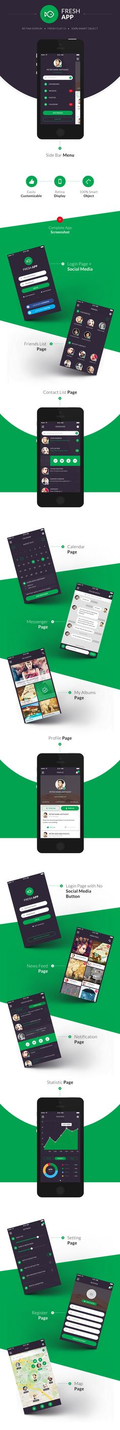 Fresh Flat Mobile UI Kit Download here: http://graphicriver.net/item/fresh-flat-mobile-ui-kit/7603486
