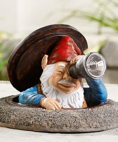 Look at this Peeping Gnome & Solar Telescope Figurine on #zulily today!