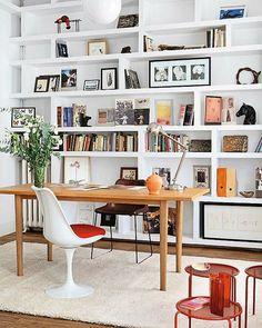 Bookshelves in the office