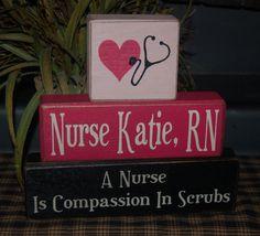A Nurse Is Compassion In Scrubs Blocks Nurse Office Decor, School Nurse Office, Nursing School Graduation, Graduation Gifts, Nursing Career, Graduation Ideas, Nurse Love, Rn Nurse, Nurse Humor