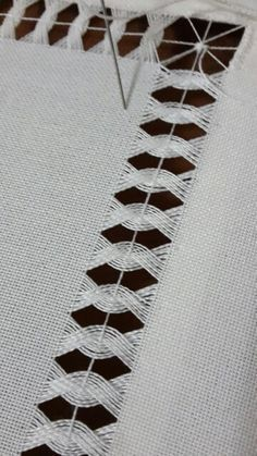 This Pin was discovered by SühFor your consideration is a stunningly exquisite drawn thread needlework pattern/chart booklet as shown in the picture and listing title. I learned these Embroidery Needles, Hand Embroidery Stitches, Cross Stitch Embroidery, Embroidery Patterns, Cross Stitch Patterns, Sewing Patterns, Crochet Patterns, Bordado Popular, Hem Stitch
