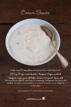 Cream Sauce. Recipe adapted from Rachel Khoo