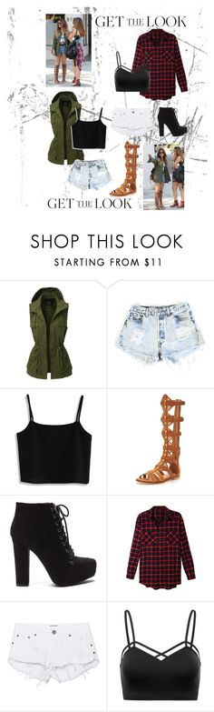 """""""Vanessa and Stella"""" by silent-in-the-trees ❤ liked on Polyvore featuring LE3NO, Levi's, Chicwish, KG Kurt Geiger, One Teaspoon, GetTheLook and celebritysiblings"""