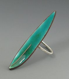 Ring | Kathryn Riechert.  antique spoon, sterling silver, and enamel