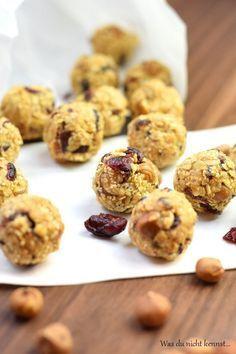 Cranberry Energiebällchen zuckerfrei, einfach und gesund